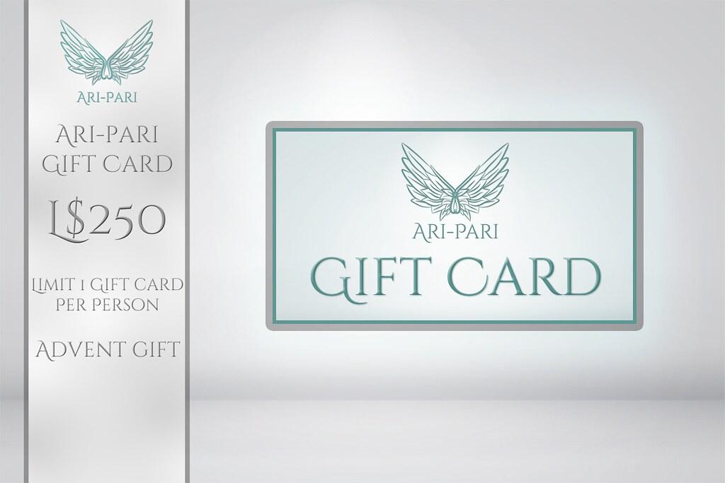 [Ari-Pari] 250L Gift Card
