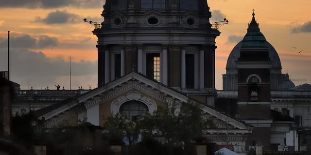 Basilica dei Santi Ambrogio e Carlo al Corso, c1670, Rome.