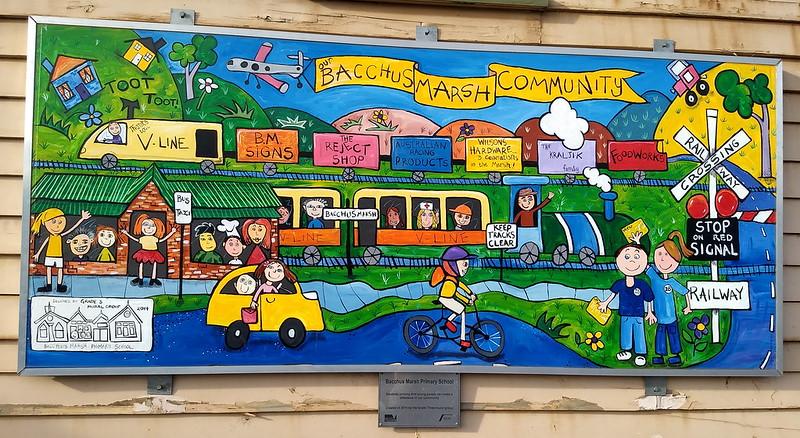 Bacchus Marsh station mural