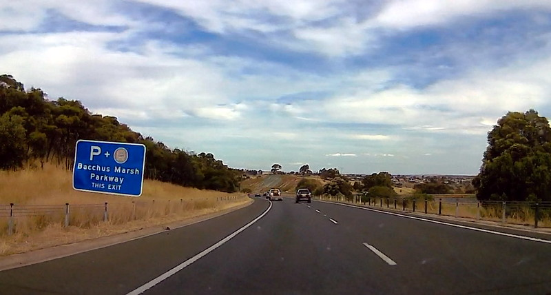 Bacchus Marsh parkway sign