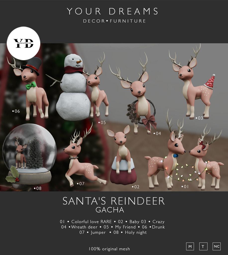 {YD} Santa's reindeer