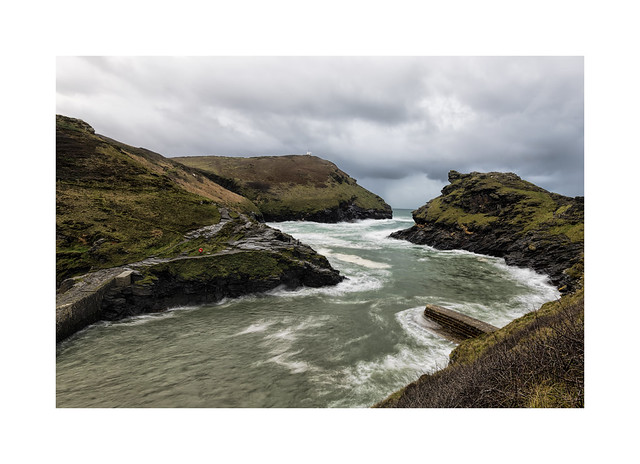 Rough weather at Boscastle...
