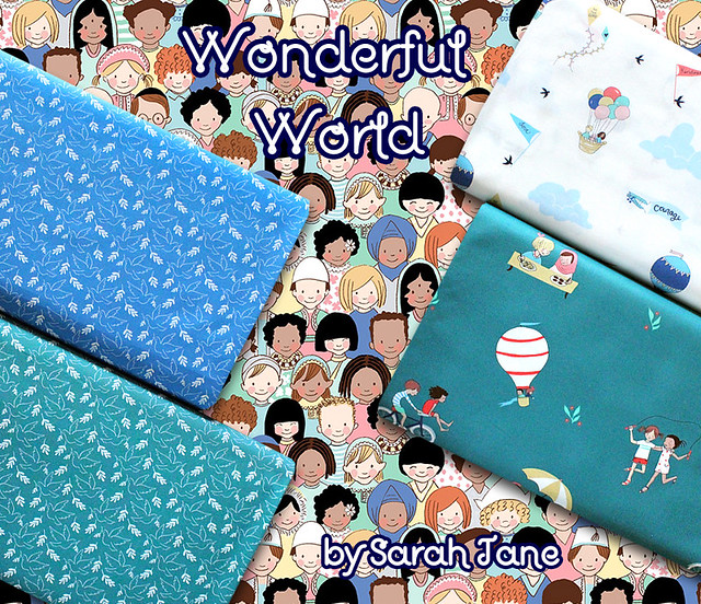 Michael Miller Fabrics Wonderful World Collection by Sarah Jane