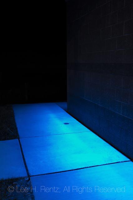 Blue Lights at a Montana Rest Area
