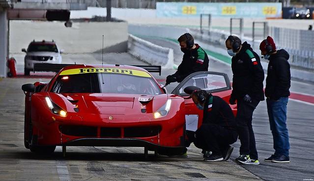 Ferrari 488 GTE / AF Corse / Test  Barcelona /