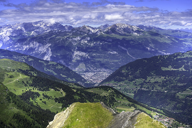 View from Weisshorn to Chur - Arosa - Graubünden - Switzerland