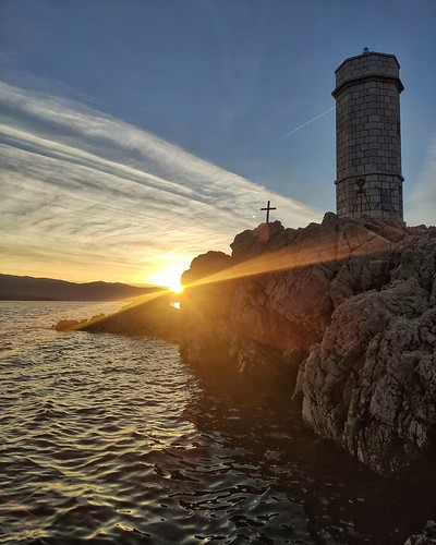 sun sunrise down sea rocks lughthouse xiaomi smartphone phone adriatic croatia hrvatska europe