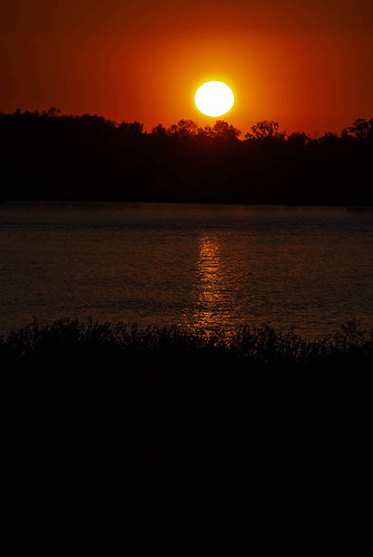 Sun Going Down Over the Mississippi