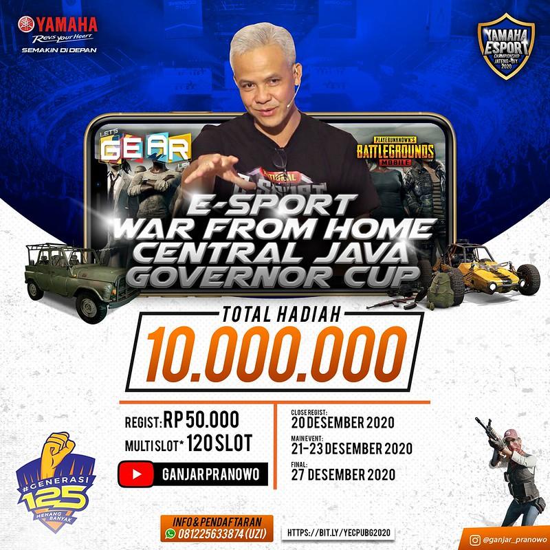 Piala Gubernur Jawa Tengah di Yamaha Generasi 125 E-Sport Competition Jateng-DIY