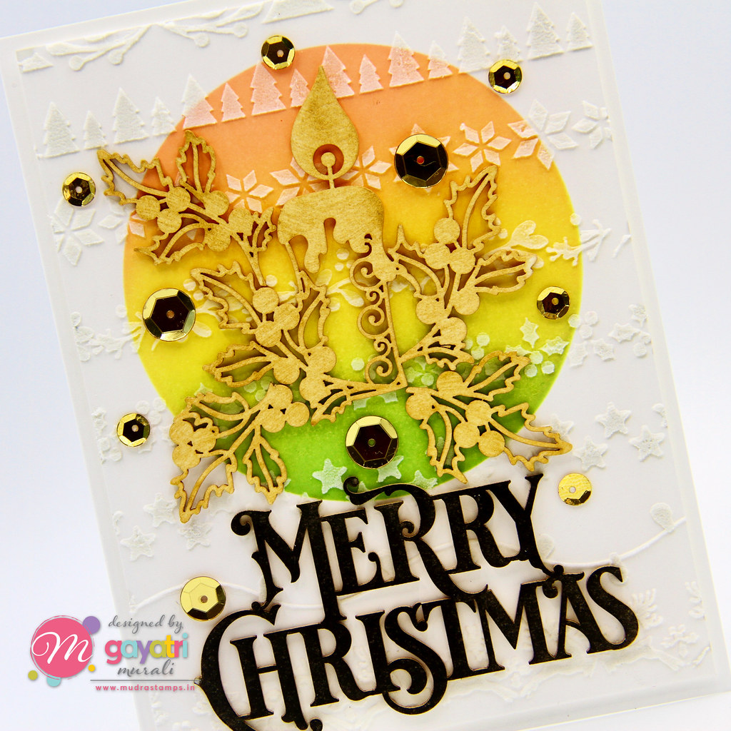 Merry Christmas card #1 closeup