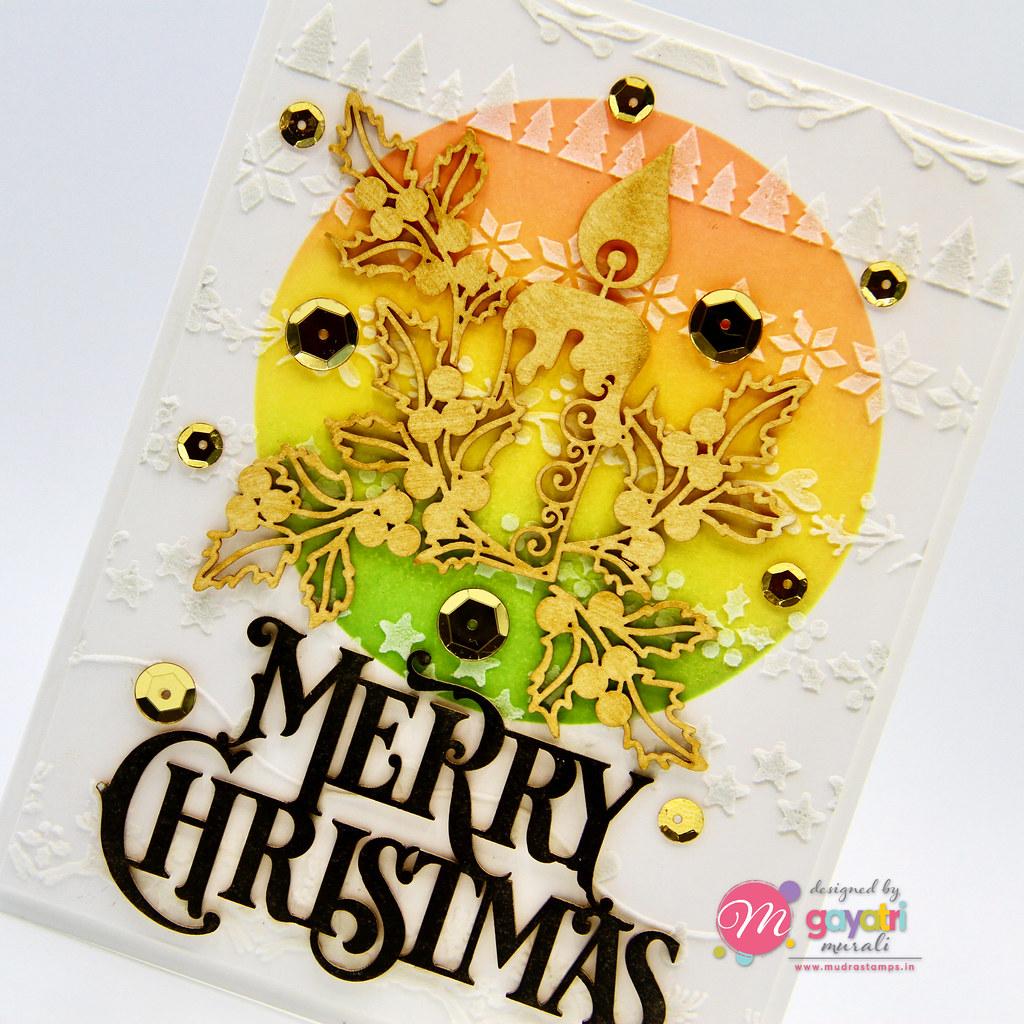 Merry Christmas card #1 closeup1