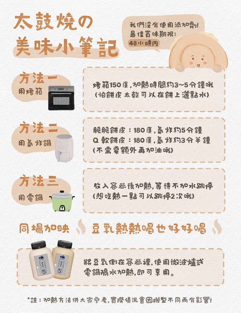 青田九號豆製所 菜單車輪餅紅豆餅01