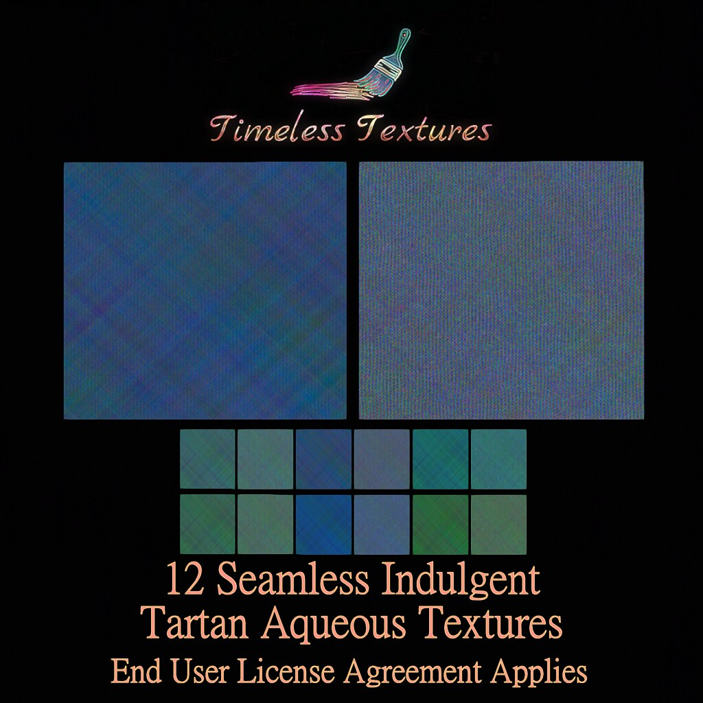 2020 Advent Gift Dec 15th – 12 Seamless Indulgent Tartan Aqueous Timeless Textures