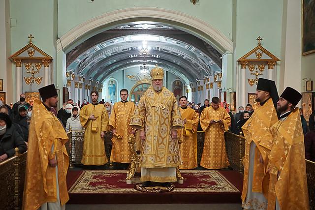 Архиерейское служение в день памяти святого апостола Андрея Первозванного 13.12.2020