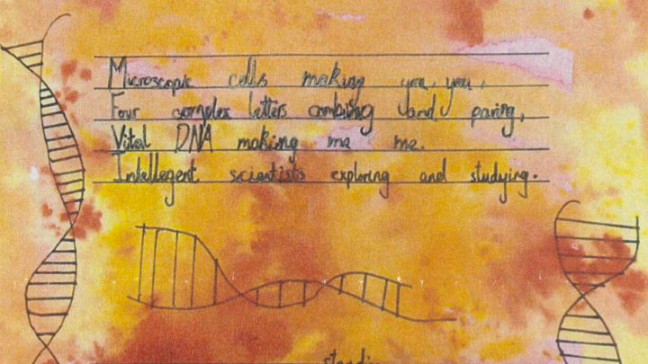 Outreach picture of a DNA poem