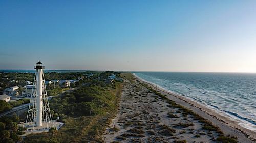 boca grande lighthouse light florida fl range phare drone