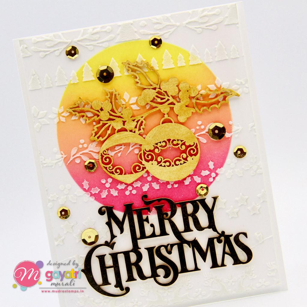 Merry Christmas card #2 closeup