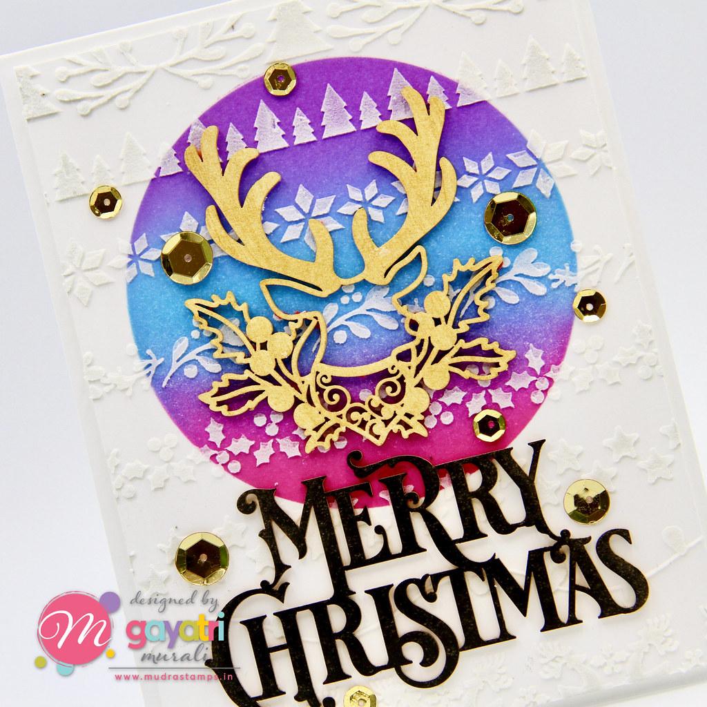 Merry Christmas card #3 closeup