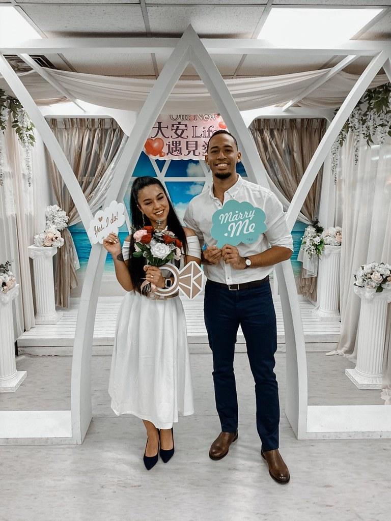 錢肯尼於11月底與台灣籍女友結婚(圖/錢肯尼提供)