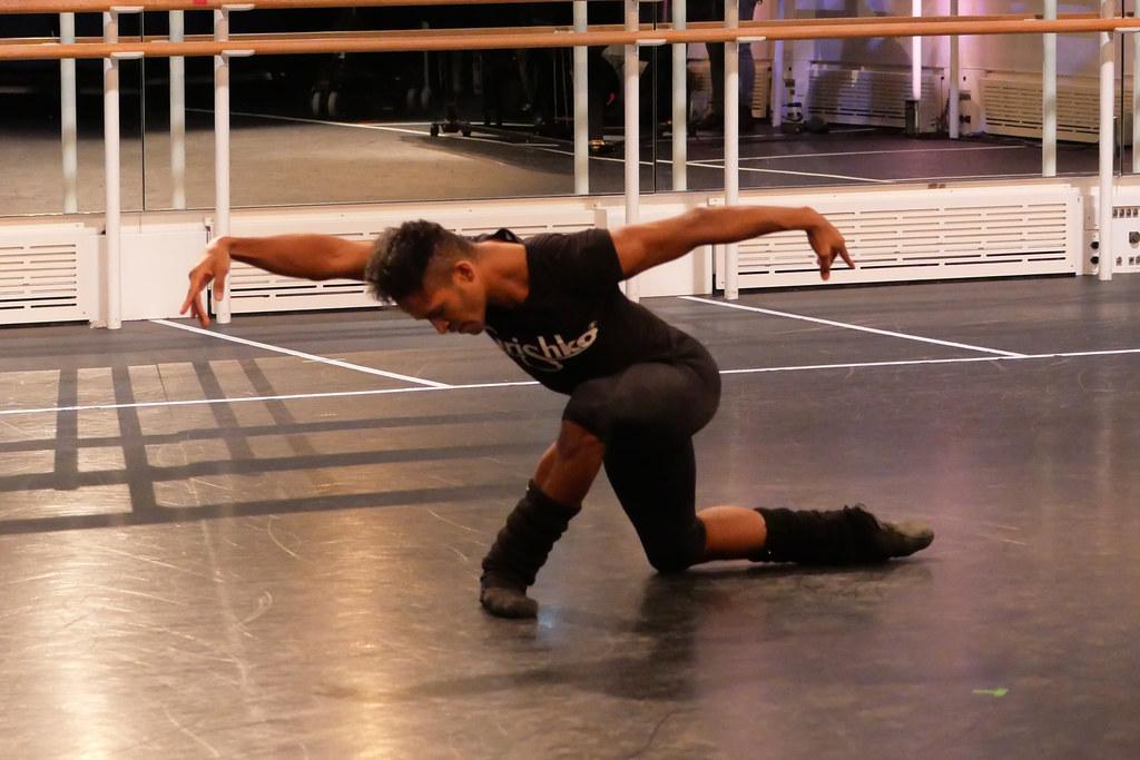 Fernando Montaño rehearsing Frederick Ashton's Dance of the Blessed Spirits for World Ballet Day ©2020 ROH