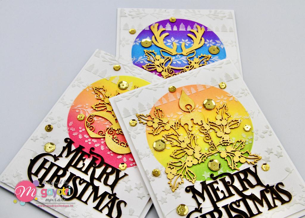 Merry Christmas card set1