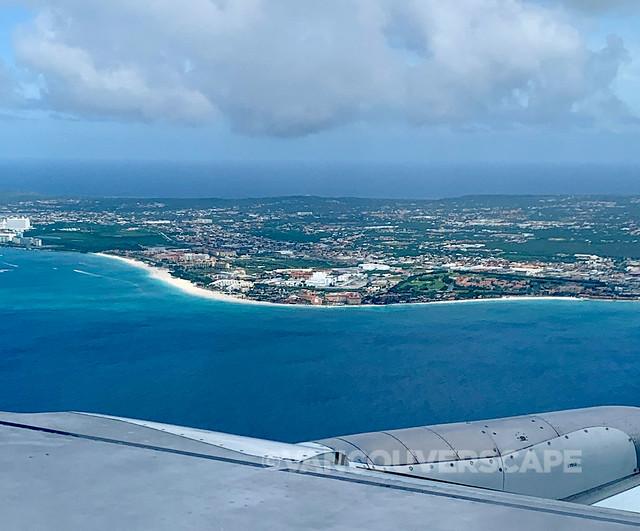 Eagle Beach from the air