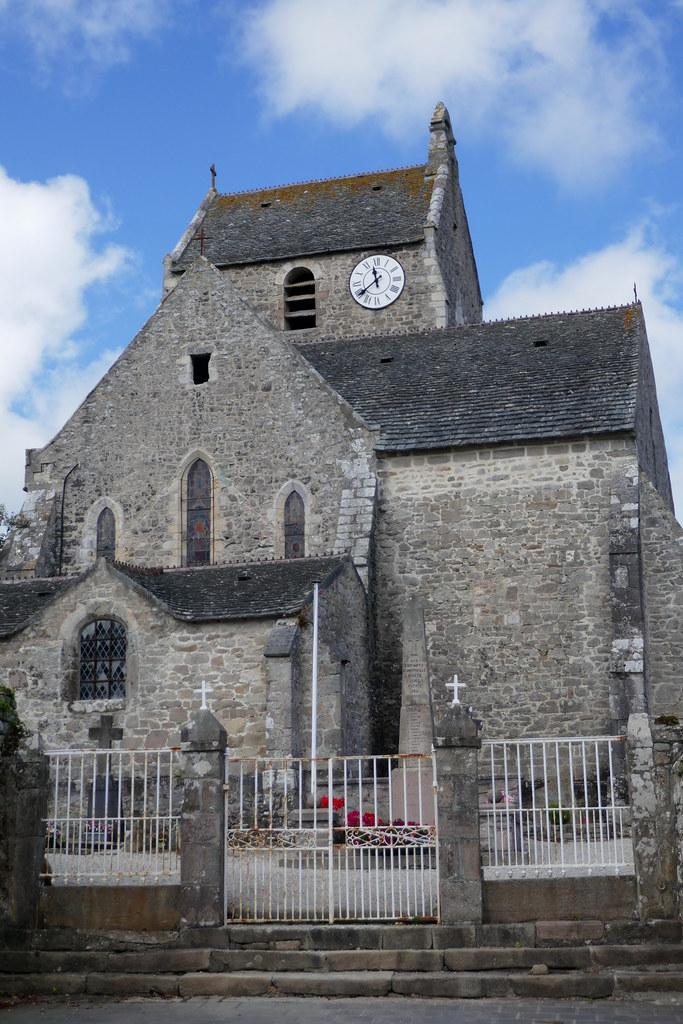Eglise gothique St Jean-Baptiste, XIIIe, Omonville-la-Rogue, Manche, Normandie, France.
