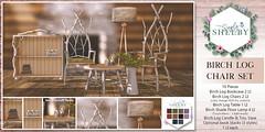 Simply Shelby Birch Log Chair Set