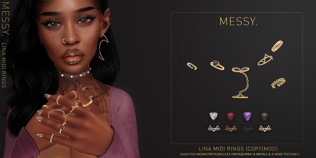 Lina Midi Rings