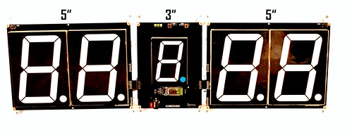 SCORE5 Arduino based Digital Scoreboard with Common anode Seven segments display (26)
