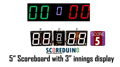 SCORE5 Arduino based Digital Scoreboard with Common anode Seven segments display (17)