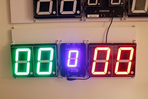 SCORE5 Arduino based Digital Scoreboard with Common anode Seven segments display (10)