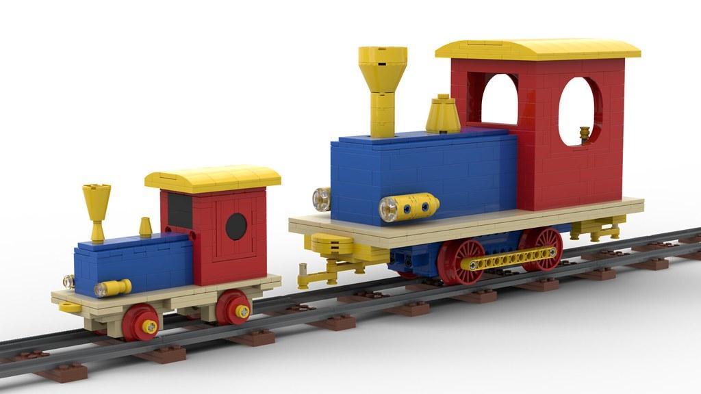 Lego Wooden Train - XXL Version