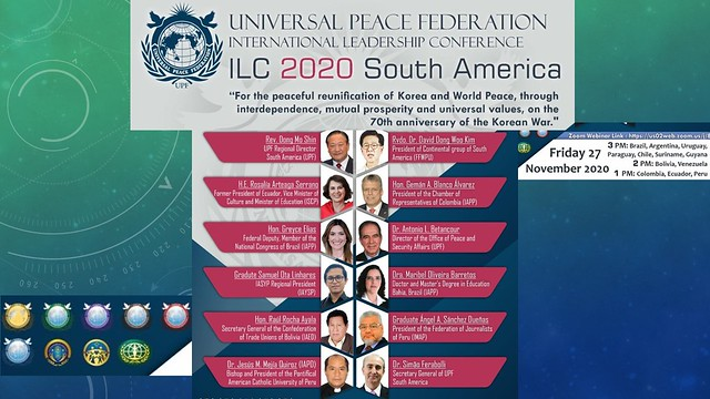 South America-2020-11-27-UPF-South America Hosts ILC Webinar on the Reunification of Korea
