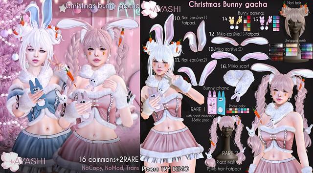 [^.^Ayashi^.^] Christmas Bunny Gacha special for The Epiphany