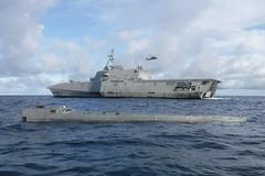 USS Gabrielle Giffords (LCS 10) conducts enhanced counter-narcotics operations, Dec. 5. (U.S. Navy/Lt.j.g. Miranda Rossum)
