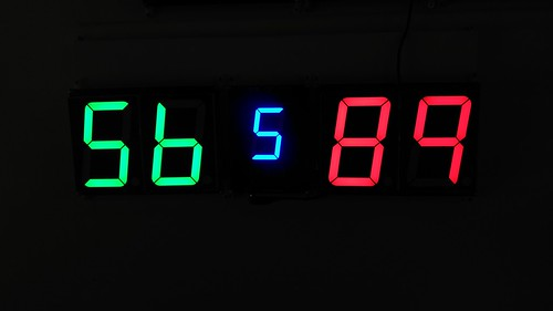 SCORE5 Arduino based Digital Scoreboard with Common anode Seven segments display (20)