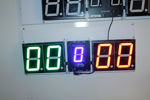 SCORE5 Arduino based Digital Scoreboard with Common anode Seven segments display (9)