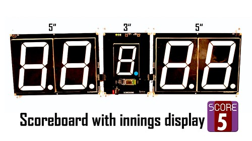 SCORE5 Arduino based Digital Scoreboard with Common anode Seven segments display (27)