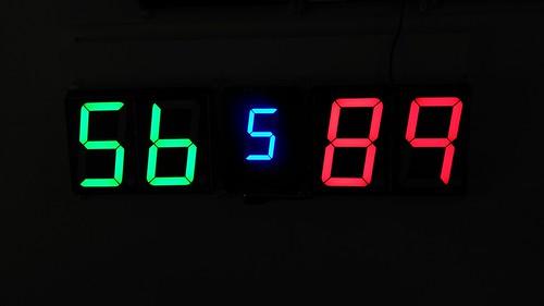 SCORE5 Arduino based Digital Scoreboard with Common anode Seven segments display (21)