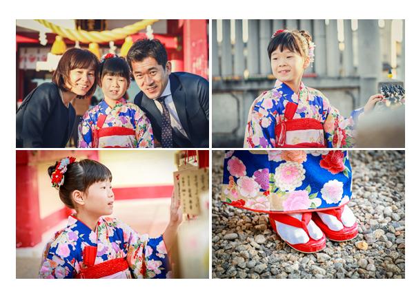 7歳の女の子の七五三を上野天満宮で 名古屋市千種区