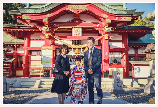 上野天満宮で七五三 名古屋市千種区 ロケーション撮影