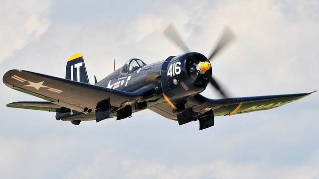 Vought F4U-4 Corsair Bu 97143 N713JT JT-416 US Navy