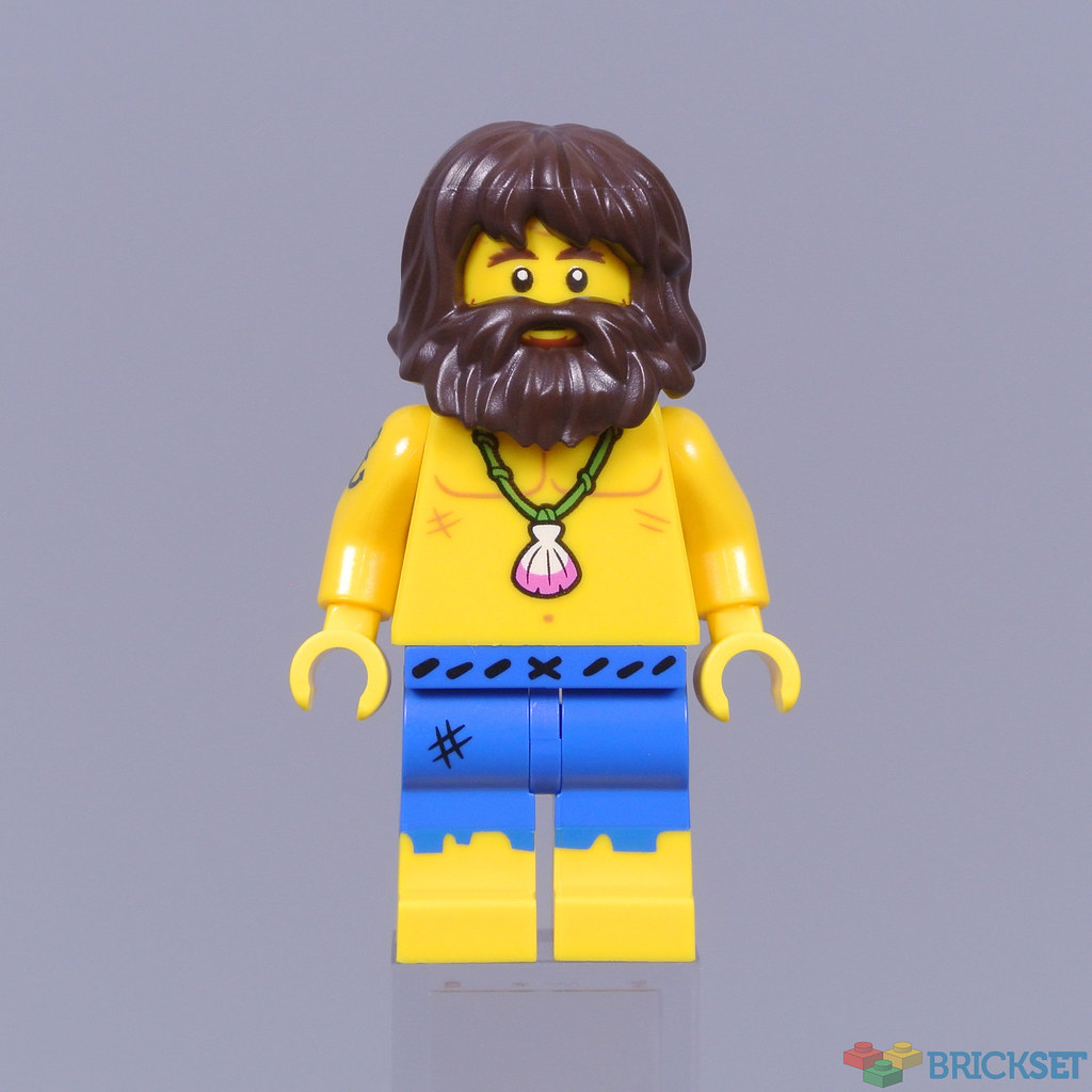 Harry Potter Hair NEW Lego Minifig Short Dark Orange BEARD w//Mustache