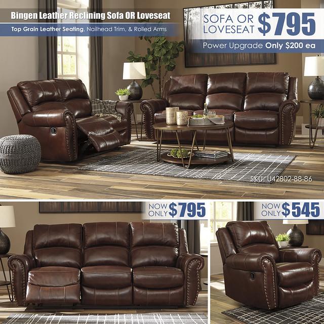 Bingen Leather Reclining Sofa OR Loveseat_U42802-88-86_Update