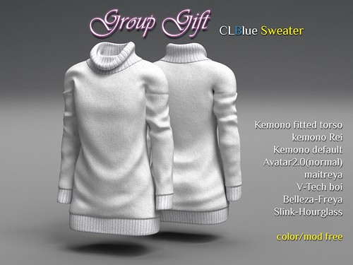 [GroupGift]CLBlue-Sweater