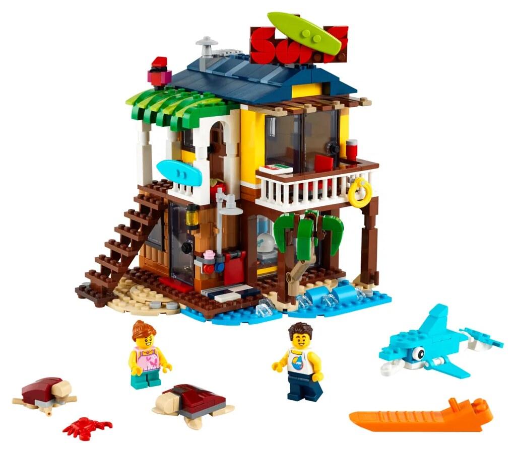 LEGO 31118 創意系列【衝浪者海灘小屋】Surfer Beach House 擁有 3 in 1 玩法的有趣模型!