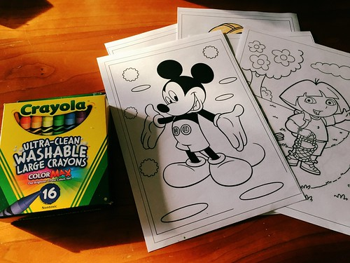 Crayola Crayons with Coloring Pages