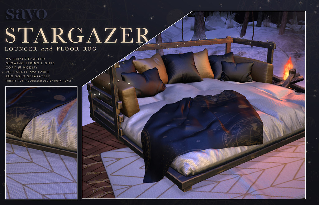SAYO - Stargazer Lounger and Rug @ Saturnalia