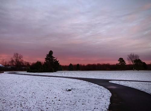 landscape snow sunrise